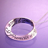 St. Francis' Prayer Sterling Silver Necklace