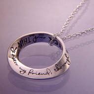 My Sister, My Friend Through Thick And Thin Sterling Silver Necklace