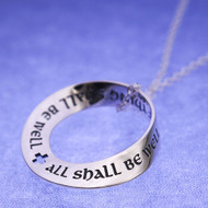 All Shall Be Well Sterling Silver Mobius Necklace
