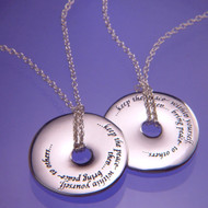 Keep The Peace Within Yourself Sterling Silver Necklace