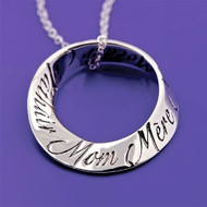 Mom In 10 Languages Sterling Silver Necklace