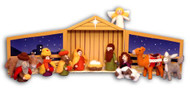 15 Piece Handcrafted Wool Nativity Set