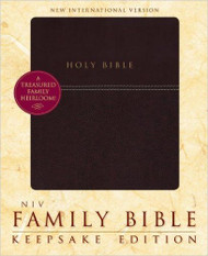 NIV Family Bible, Keepsake Edition - Burgundy