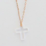 Swarovski Crystal Cross Necklace - Gold