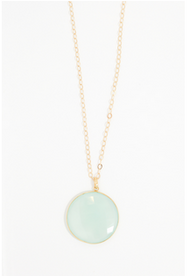 Majestic Regal Green Chalcedony Necklace