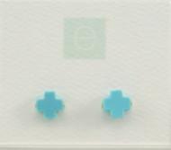 Turquoise Signature Cross Stud Earring