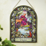 St. Francis Glass Wall Hanging