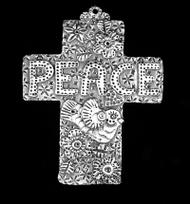 """Peace"" Wall Cross"