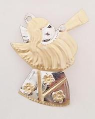 Tin Angel With Horn