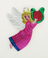 Magenta Tin Angel With harp
