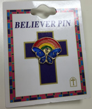Rainbow Butterfly Pin