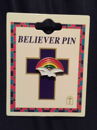 Rainbow Dove Believer Pin