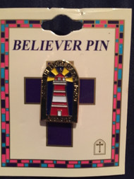 Lighthouse Believer Pin