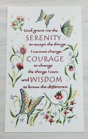 """God Grant Me the Serenity..."" Prayer Card"