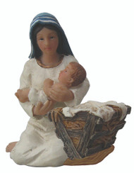 Mary, Jesus & Manger Ornament