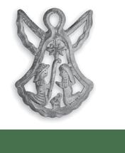 Metal Angel Bell Ornament