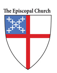 Static Episcopal Shield Window Decal