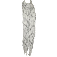 Tissue Square Scarf- White