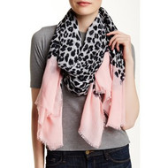 Animal Dip Scarf - Snow Pink