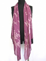 Butterfly Scarf - Mauve