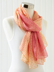 Cream/Pink Scarf