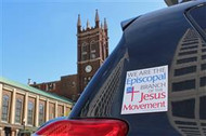 We Are The Episcopal Branch Of The Jesus Movement Car Magnet