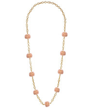 Kelley Necklace - Czech Pink