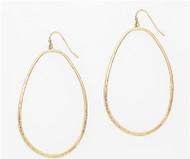 Gold Open Hoop Earring