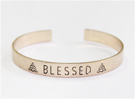 Gold Cuff with Blessed Accent