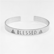 Silver Cuff with Blessed Accent
