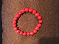Beaded Stretch Bracelet, Red