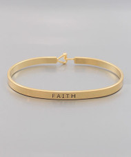 Faith Bracelet - Gold