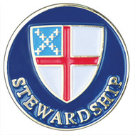 Stewardship Lapel Pin - Episcopal Shield