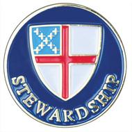 Stewardship Lapel Pin - Episcopal Shield