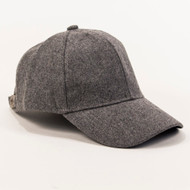 Camden Wool Baseball Hat - Heather Gray