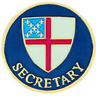 Secretary Lapel Pin - Episcopal Shield