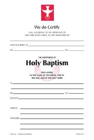 Baptism Certificate #110R