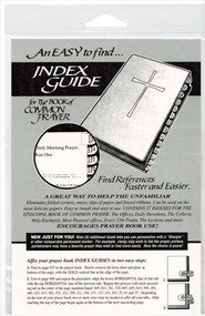 Index Guide to the Book of Common Prayer