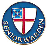 Senior Warden Lapel Pin - Episcopal Shield