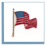 Quilled American Flag Greeting Card