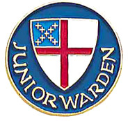 Junior Warden Lapel Pin- Episcopal Shield