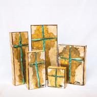 Ginger Leigh Designs: Verdi Gris Cross -  Medium Rectangle
