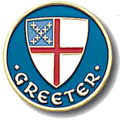 Greeter Lapel Pin - Episcopal Shield