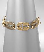 Cross Cut Links Bracelet -  Burnt Gold