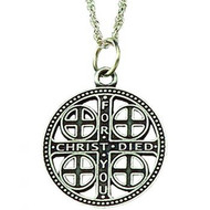 Episcopal Church Service Cross with Chain - Large