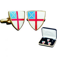 Episcopal Shield Cufflinks with Tie Tac/Lapel Pin