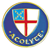 Acolyte Lapel Pin - Episcopal Shield