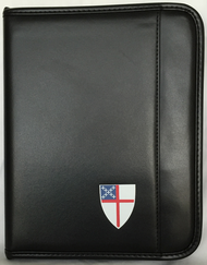 Zippered Padfolio Tablet Case, Universal Fit, Colored Episcopal Shield