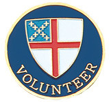 Volunteer Lapel Pin - Episcopal Shield