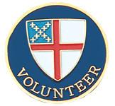 Volunteer Lapel Pin - Episcopal Shield